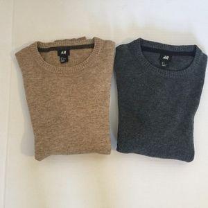 H&M Lot of 2 Men's Wool Sweaters Sz S